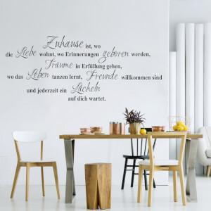 Samolepka na stenu - Zuhause...