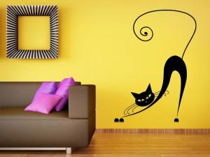 Samolepka na zeď Kočka 011