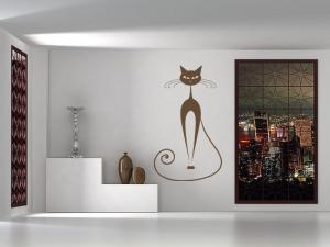 Samolepka na zeď Kočka 012