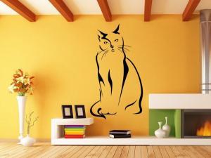 Samolepka na zeď Kočka 0430