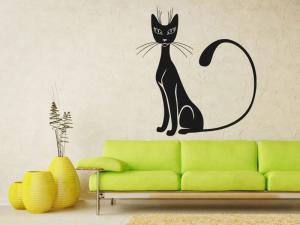 Samolepka na zeď Kočka 0451