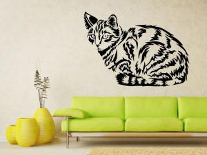 Samolepka na zeď Kočka 0457
