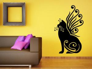 Samolepka na zeď Kočka 0471