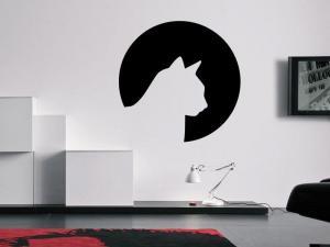 Samolepka na zeď Kočka 0478