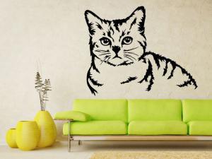 Samolepka na zeď Kočka 0483