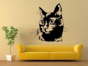 Samolepka na zeď Kočka 0489