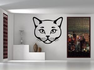 Samolepka na zeď Kočka 0492