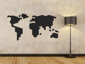 Samolepka na zeď Mapa světa 1233