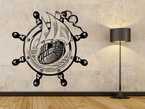 Samolepka na zeď Námořní loď 001