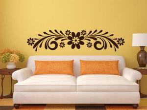 Samolepka na zeď Ornament s květinami 0179