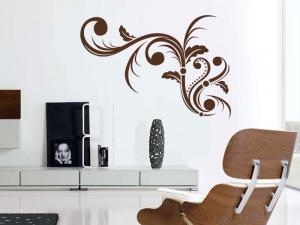 Samolepka na zeď Ornamenty z rostlin 005