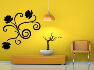 Samolepka na zeď Ornamenty z rostlin 019