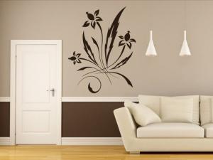 Samolepka na zeď Ornamenty z rostlin 036