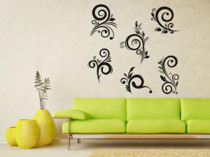 Samolepka na zeď Ornamenty z rostlin 042