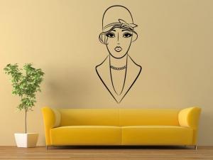 Samolepka na zeď Retro žena 1053