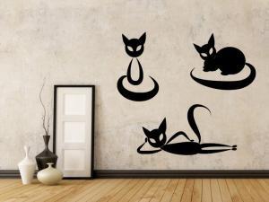 Samolepka na zeď Sada koček 0455