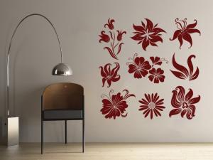 Samolepka na zeď Sada květin 001