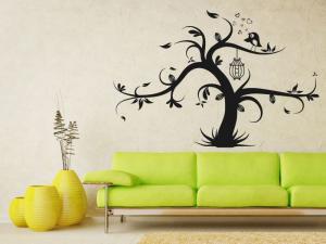 Samolepka na zeď Strom zamilovaných 0234
