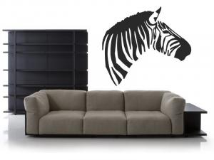 Samolepka na zeď Zebra 005