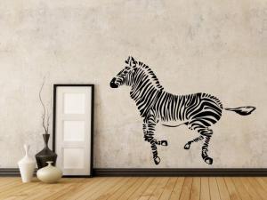 Samolepka na zeď Zebra 012