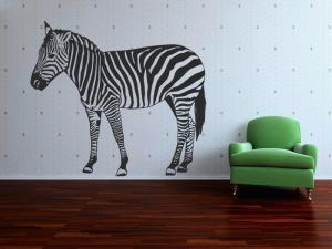 Samolepka na zeď Zebra 013