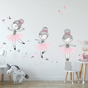 Samolepky na stenu - Malé baleríny