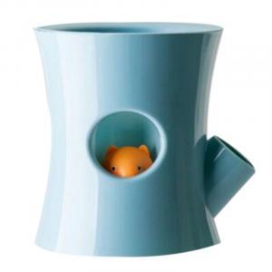 Samozavlažovací kvetináč s veveričkou B2, modrý