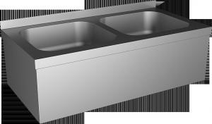 Sanela - Nerezový závesný dvojdrez s automatickou batériou SLU 10B s elektronikou ALS, 9 V