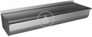 SANELA SANELA - Nerezové dřezy Žľab z nehrdzavejúcej ocele zaguľatený, neopláštený, dĺžka 1250 mm (SLUN 10K)
