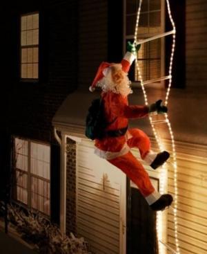 Santa na svetelnom rebríku 240 cm