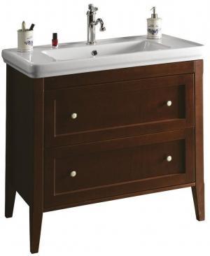 SAPHO - CROSS umývadlová skrinka 85x81x47cm, 2x zásuvka, mahagon (CR091)