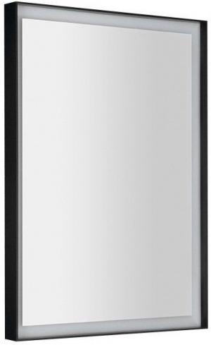 SAPHO - SORT LED podsvietené zrkadlo 470x700mmm, čierna mat ST047