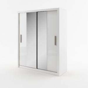 Šatníková skriňa IDEAL 03,biela