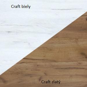 WIP Šatníková skriňa RIO 23 Farba: Craft biely / craft zlatý
