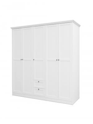 Šatníková skriňa s dverami a zásuvkami Country, 200 cm