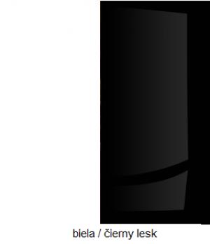 WIP Šatníková skriňa SOLAR SLR 05 Farba: Biela / čierny lesk