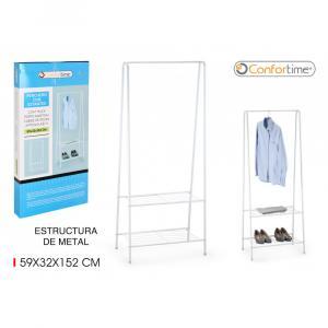 Šatníkový organizér Confortime 2100, biely 152 cm