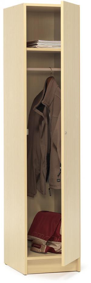 Šatňová skriňa Class, uzamykateľná,1850x400x530 mm, breza
