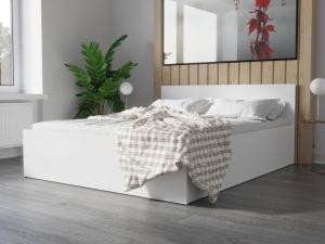 SB Manželská posteľ Abby 160x200 Farba: Biela
