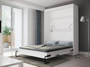 SB Manželská sklápacia posteľ Brook biela Rozmer lôžka: 200x160