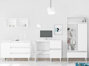 SB Nábytková stena TIP 3 - biela