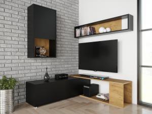 SB Obývacia stena Aron-čierna