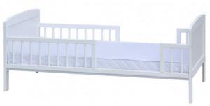 Scarlett Biela ochranná bariéra / zábrana k postieľke - 140 cm