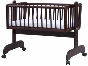 Scarlett Hnedá kolíska pre bábätká z bukového dreva - 90 x 41 cm