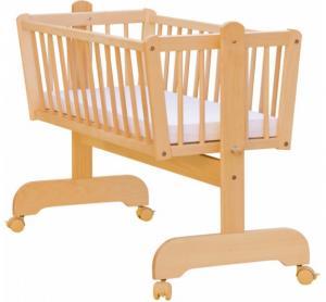Scarlett Kolíska z bukového dreva pre dieťa - 90 x 41 cm