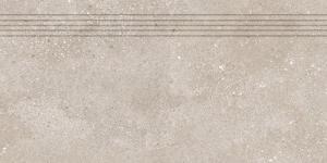 Schodovka Rako Betonico tmavo béžová 30x60 cm mat DCPSE794.1