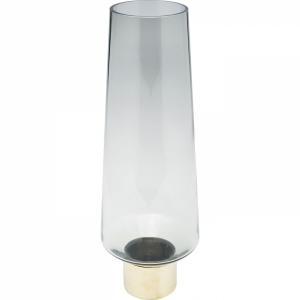 Šedá skleněná váza Noble Ring 40cm