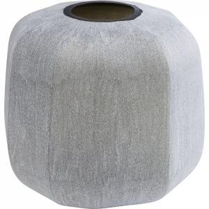 Šedá skleněná váza Rock Edge 31cm