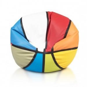 Ecopuf Sedací vak ECOPUF - BASKETBALL farebný