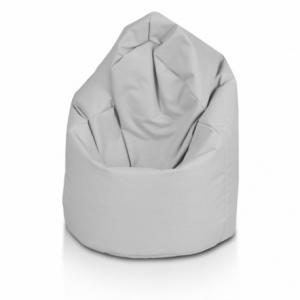 Sedací vak ECOPUF - GIGA SAKO - polyestér NC13 - Svetlo sivá